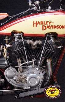 1929 harley davidson jdh engine postcard national for Motor harley davidson museum