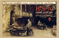 BSA Motor Bicycles Postcard
