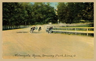 Driving Park Motorcycle Races Postcard