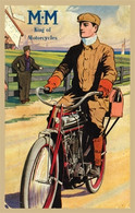 Marsh Metz Motorcycle Postcard
