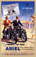 Ariel Twins Motorcycle Postcard