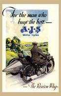 AJS Motorcycle Postcard