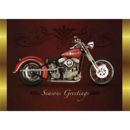 Motorcycle Season Greetings Christmas Postcard