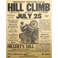 1937 Midwest Motorcycle Hill Climb Poster
