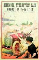 1918 Anamosa, Iowa Fair Race Poster