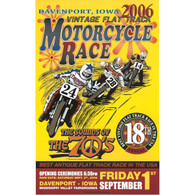 18th Annual 2006 Davenport Motorcycle Races Poster
