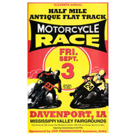 11th Annual 1999 Davenport Motorcycle Races Poster