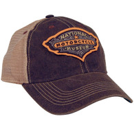 National Motorcycle Museum Black Antique Logo Mesh Cap