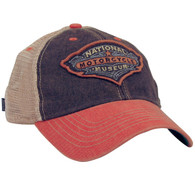 National Motorcycle Museum Black and Orange Antique Logo Mesh Cap