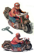 Saturn Motorcycle Tin Toy