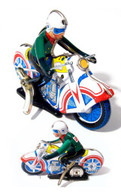 Stand Up Motorcycle Tin Toy