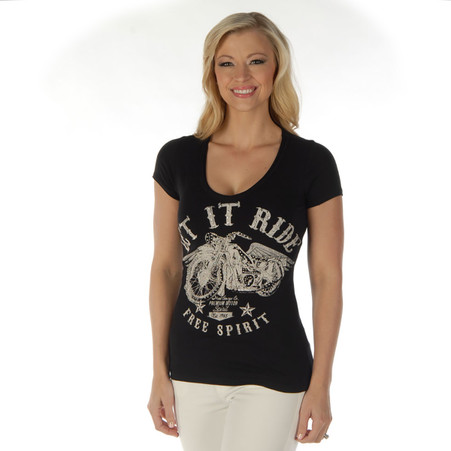 National Motorcycle Museum 'Let it Ride - Free Spirit' T-Shirt Front