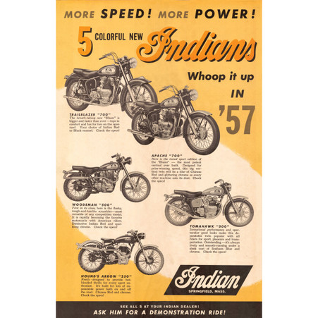 5 New Indians for '57 Poster