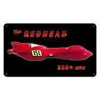The Redhead Metal Sign
