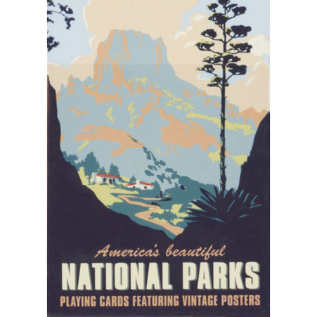 National Parks Vintage Posters Playing Cards_1