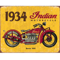 1934 Indian Motorcycle Tin Sign
