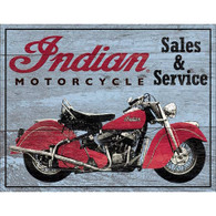 Indian Motorcycle Sales & Services Tin Sign