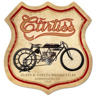 Curtiss Shield Metal Sign