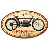 Pierce 4-Cylinder Metal Sign