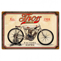 Thor Factory Racer Metal Sign