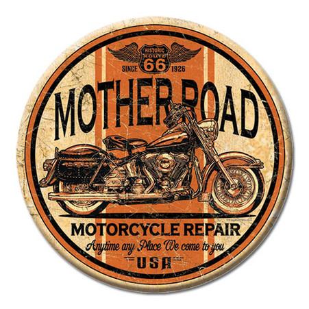 Mother Road Motorcycle Repair Magnet