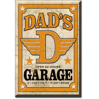 Dad's Garage Vintage Magnet