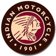 Indian Motorcycle 1901 Round Metal Sign