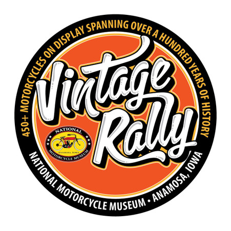 National Motorcycle Museum Round Vintage Rally Metal Sign