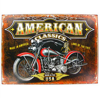 'American Classics' Motorcycle Metal Sign