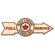 Full Service Red Crown Gasoline Metal Sign