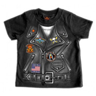 Black Biker at Heart Leather Jacket Toddler T-Shirt
