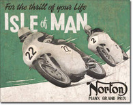 Norton Isle of Man Metal Sign