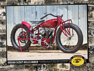 1923 Indian Scout Hill Climber Poster