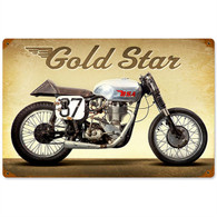BSA 'Gold Star' Motorcycle Metal Sign