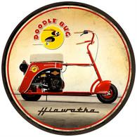 Hiawatha 'Doodle Bug' Motorcycle Metal Sign