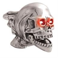 Flying Skull Fender Ornament - Patina Finish