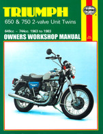 Haynes Manual for Triumph 650 & 750 2-Valve Twins 1963-1983
