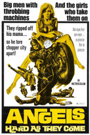 1971 'Angels Hard As They Come' Movie Poster