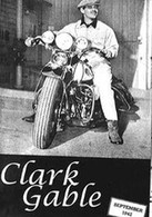 Clark Gable Harley-Davidson Motorcycle Poster