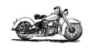 Harley-Davidson Panhead Motorcycle Poster