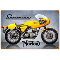 Norton 'Commando' Motorcycle Metal Sign
