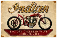 Indian Hill Climber Motorcycle Metal Sign