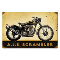 AJS 'Scrambler' Motorcycle Metal Sign