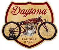 Daytona Factory Racer Motorcycle Metal Sign