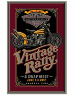 2nd Annual National Motorcycle Museum 2012 Vintage Rally Poster