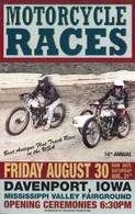 14th Annual 2002 Davenport Motorcycle Races Poster