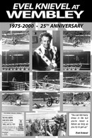 Evel Knievel Wembley Stadium 25th Anniversary Poster