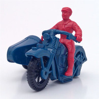 Plastic Vintage Motorcycle with Sidecar Toy