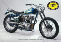 Von Dutch Triumph Motorcycle Postcard
