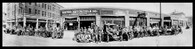 United Motorcycle Dealership Panoramic Print